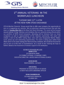 gts-mischler veterans-in-workplace luncheon-nyse